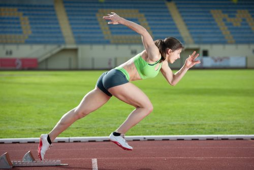 atletismo, anaeróbico, mujer
